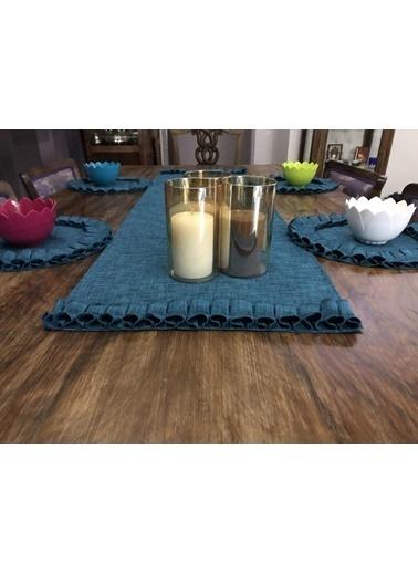 Giz Home E&C Kumaş Supla 35X35 Sp 521 Mavi  4Lü Renkli